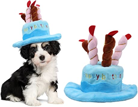 Remarkable Owude Pet Birthday Hat Cute Dog Birthday Hat With Cake Candles Personalised Birthday Cards Arneslily Jamesorg