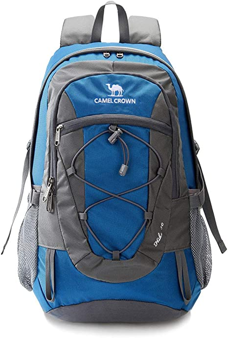Zaino da Viaggio Leggero CAMEL CROWN Zaino da Escursione Zaino da Sport Impermeabile Resistente per Il Campeggio di Pesca