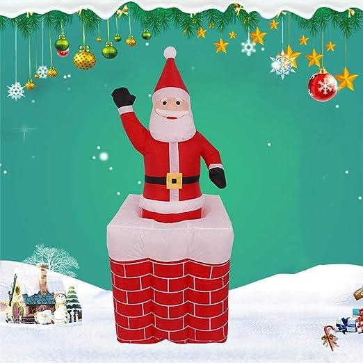 1.6m Modelo de Navidad Inflable Chimenea de elevación Muñeca de ...