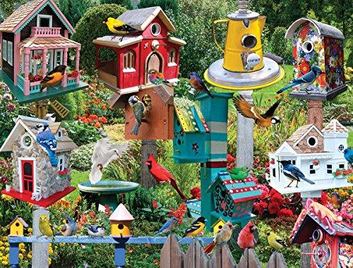 White Mountain Puzzles Birdhouse Village - 550 Piece Jigsaw Puzzle