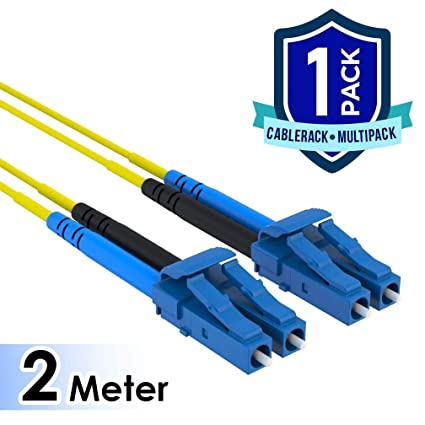 Amazon 2 Meter LC Duplex 9 125 Single Mode Fiber Patch Cable By CableRack Computers Accessories