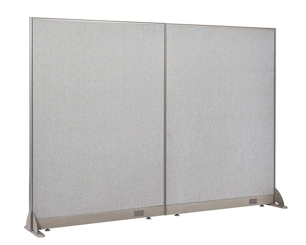 GOF Freestanding Office Partition, Large Fabric Room Divider Panel, 96'' W x 72'' H by G GOF