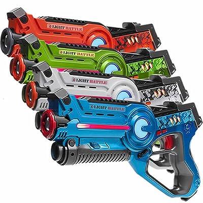 4 Light Battle Active pistolets jouet infrarouge - cible de tir - LBAP1041234D