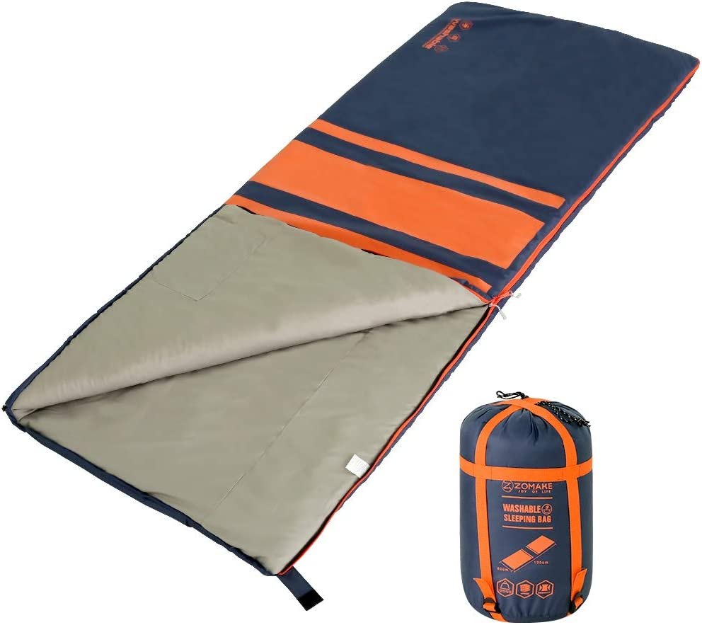 Hiking Lightweight Water Resistant Sleeping Bags with Compression Sack for Warm /& Cold Weather ZOMAKE Sleeping Bag for Adults /& Kids Great for 4 Season Camping Backpacking Traveling