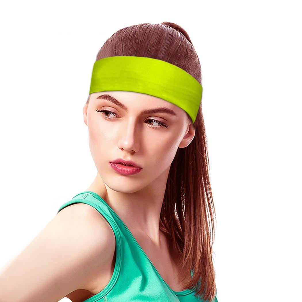 Fansport Bandeau de Sport /élastiques humidit/é m/èche Anti-d/érapant Bandeau de Course Bandeau de Yoga pour Les Femmes et Les Hommes