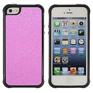 BullDog Case@ Pink Glitter Sparkling Plastic Diamond Rugged Hybrid Armor Slim Protection Case Cover Shell For iphone 5S CASE Cover ,iphone 5 5S case,iphone5S plus cover ,Cases for iphone 5 5S