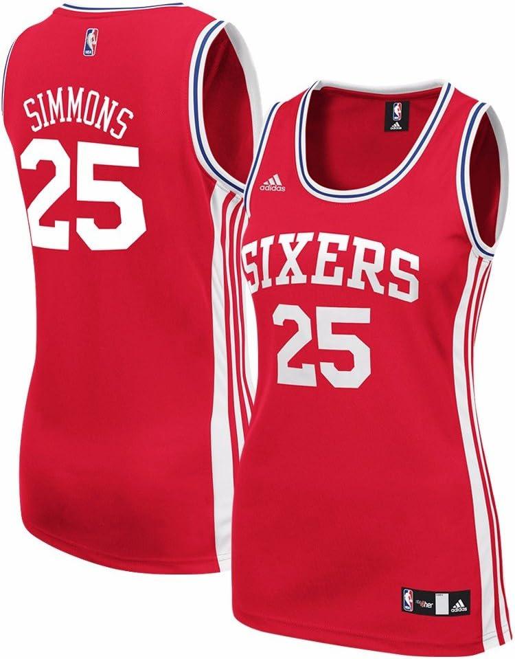 adidas Ben Simmons Philadelphia 76ers NBA Rojo Oficial suplente ...
