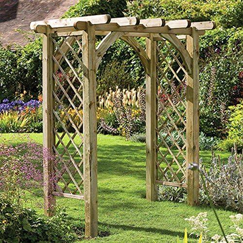 Ultima pérgola Arch resistente estructura de entramado, jardín al aire libre abierta: Amazon.es: Jardín