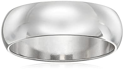 classic fit 10k white gold band 6mm size 7