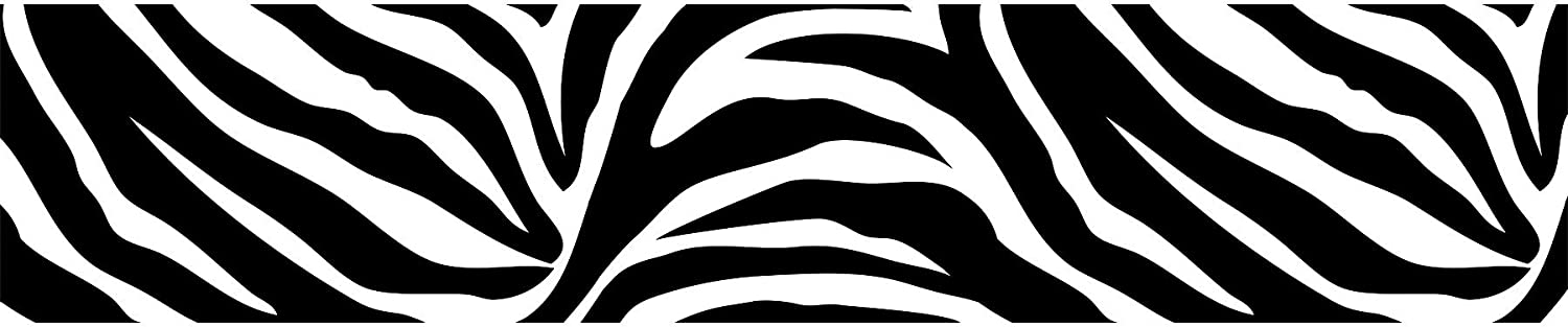 Wall Pops WPS99052 Peel And Stick Go Wild Zebra Decals, 6.5 Inch X 16 Feet  Stripe, Black   Decorative Wall Appliques   Amazon.com Part 60