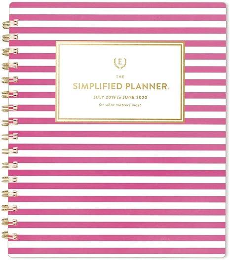 Amazon.com: Simplified 2019-2020 - Agenda escolar semanal y ...