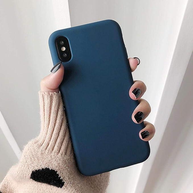 Amazon.com: Carcasa de silicona suave para iPhone X, XS, Max ...