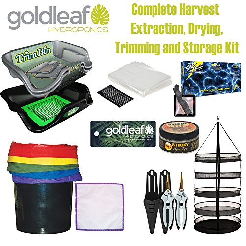 Big Harvest Essential Oil Extraction, Flower Bud Trimming, Drying & Storage Kit by Goldleaf Hydroponics
