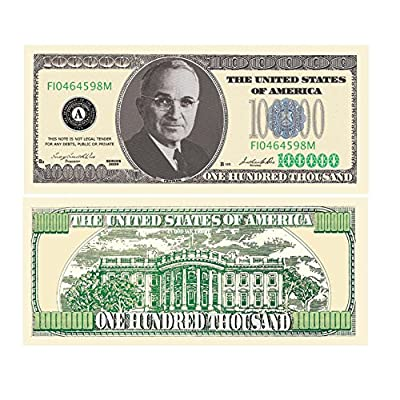 American Art Classics Pack of 5 Bills - $100,000.00 One Hundred Thousand Dollar Casino Party Money: Toys & Games