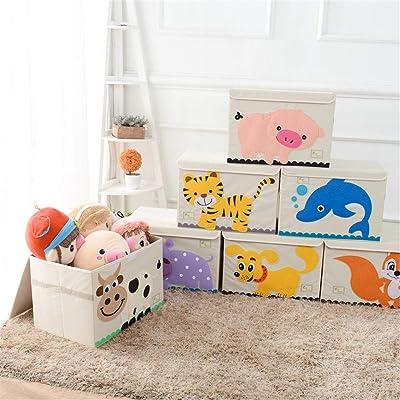 Estantería Organizadora para Juguetes Caja de juguetes plegable for guardar objetos ordenada en el cofre de almacenamiento for niñas y niños: perfecta for el almacenamiento doméstico, telas o juguetes: Hogar