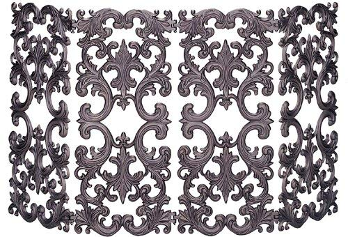 Uniflame 4-Fold Bronze Cast Aluminum Screen