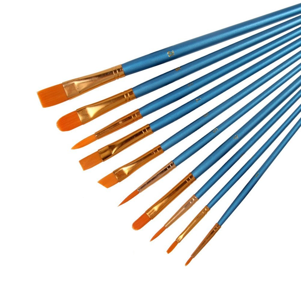 BESTOMZ Set di pennelli per pittura ad olio acrilico acquerelli pennelli per artisti e pittori 10 pezzi