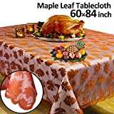 lace leaf maple GBD Thanksgiving Tablecloth Fall Decor Lace Maple Leaves 60 x 84 Inch Thanksgiving Decor Rectangle Table Cover for Harvest Festival Party Decor Dinner Indoor Kitchen Décor