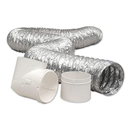 Amazon com: Everbilt 4 in  x 8 ft  Dryer to Duct Connector