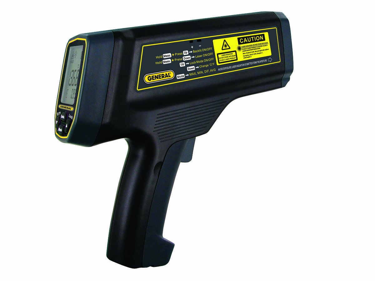 General Tools IRT5000 100:1 Ultra-High Temperature Infrared Thermometer with Dual Laser Target Tracking System