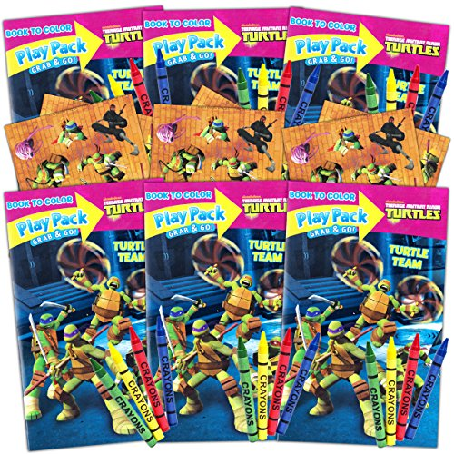 Teenage Mutant Ninja Turtles Ultimate Party Favors Packs -- 6 Sets with Stickers, Coloring Books and More (TMNT Party Supplies) -
