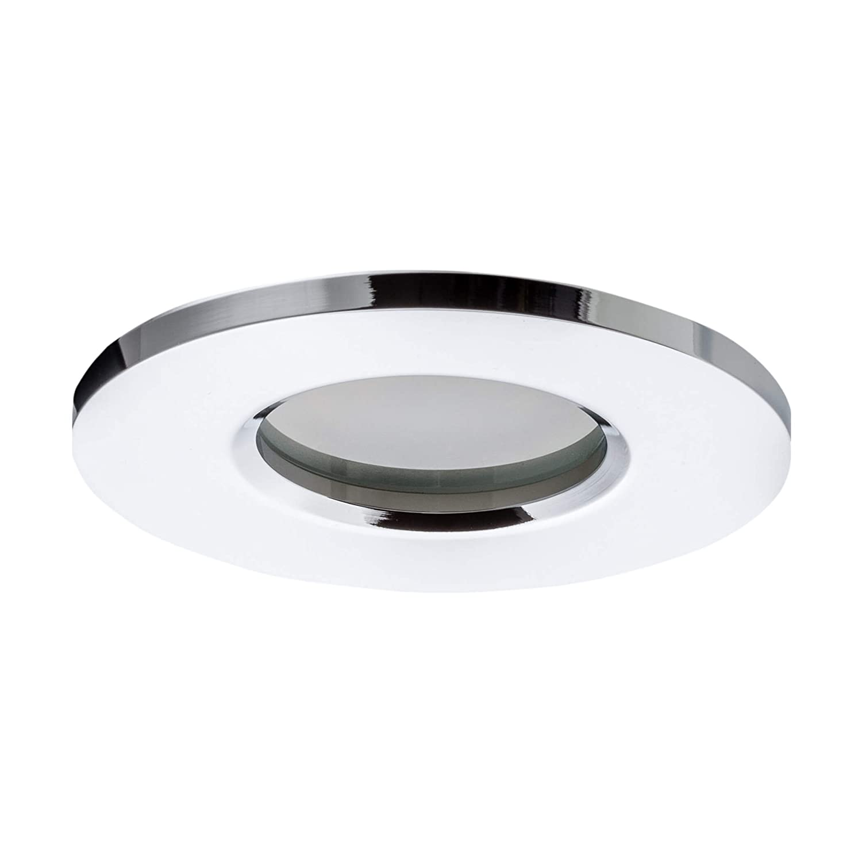GU10 Fassung Einbauleuchte Alu Chrom Silber SEBSON/® Einbaustrahler Badezimmer IP44 inkl LED, Halogen Badeinbaustrahler 6er Pack Lochma/ß 65 mm