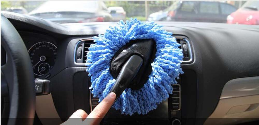 Mayco Bell 3Pcs Mini Car Brush Detail Duster Extendable for Interior and Exterior Telescope Handle JS Lifestyle Automotive Detailing Tools 3Pcs Blu Color
