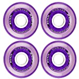 Labeda Millenium Inline Skate Wheels (Purple, 80mm)