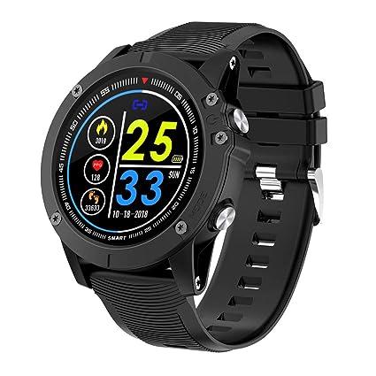 BYTTRON Bluetooth Smartwatch, Reloj Inteligente Pantalla táctil Completa IP68 Rastreador de Ejercicios a Prueba de Agua con GPS Sports Record Heart ...