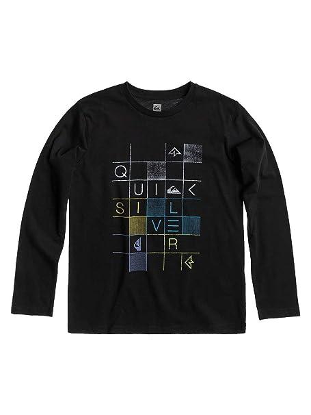Quiksilver - Camiseta de manga larga - para niño negro T12: Amazon ...