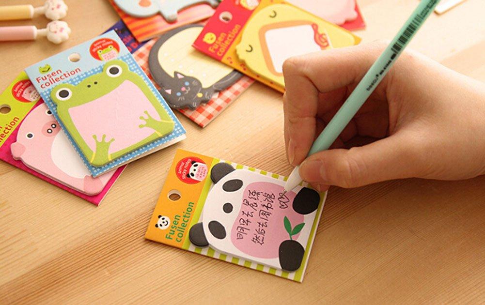 Set di 20 Creative Animal Paradise Sticky Note Divertente Notepad stile casuale