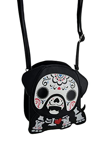 58ee95596 Image Unavailable. Image not available for. Color: Sleepyville Critters  Sugar Dog Skeleton Cross Body Purse