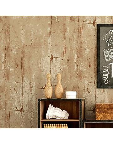 PEIWENIN-Retratos Retro Fondos Llanura No tejidos Cemento Paredes Patrones Industrial Estilo Fondos Bares Restaurante
