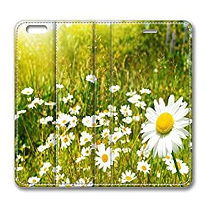 iPhone 6 Plus Case, Fashion Protective PU Leather Flip Case [Stand Feature] Cover Wildflowers Sunny Day for New Apple iPhone 6(5.5 inch) Plus