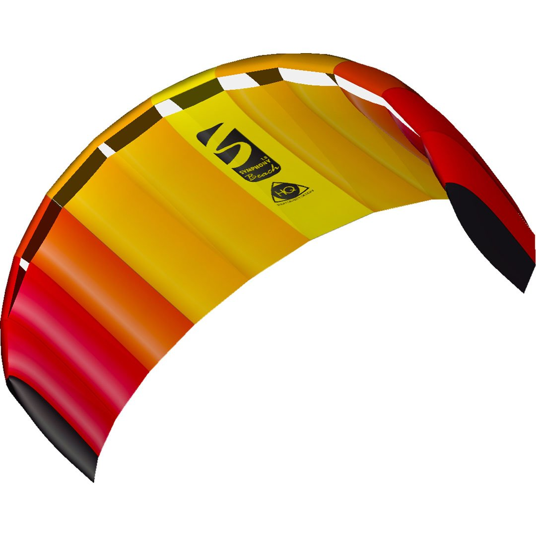 HQ Kites Symphony Beach III 1.8 Stunt Kite   71 Inch Dual - Line Sport Kite,  Color: Mango - Active Outdoor Fun for Ages 12 Years and Older by HQ Kites and Design