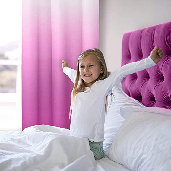 Pink Purple Ombre Curtains 84 Inch Length