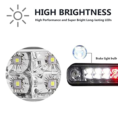 FOR C//K C10 TRUCK GMT400 CLEAR LENS 3RD//THIRD WHITE//RED LED BRAKE//REVERSE LIGHT