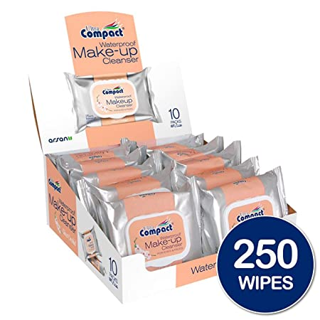 Ultra Compact Makeup Remover Wipes - No Harsh Chemicals Eye Makeup Remover -...