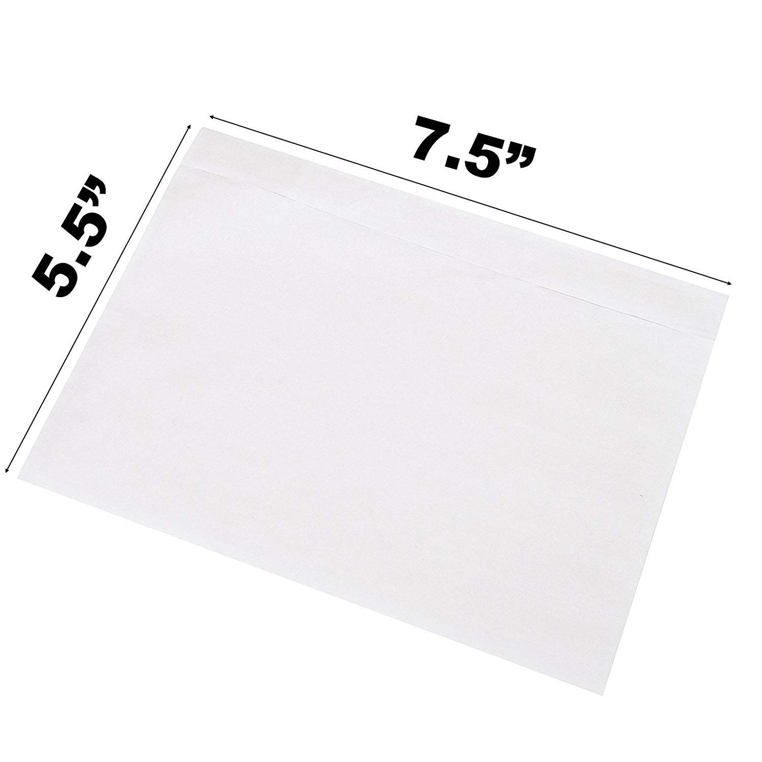 Sales4Less Packing List Envelopes 7.5'' X 5.5'' Pouches Clear Enclosed Adhesive Bags Pack of 1000 by SALES4LESS