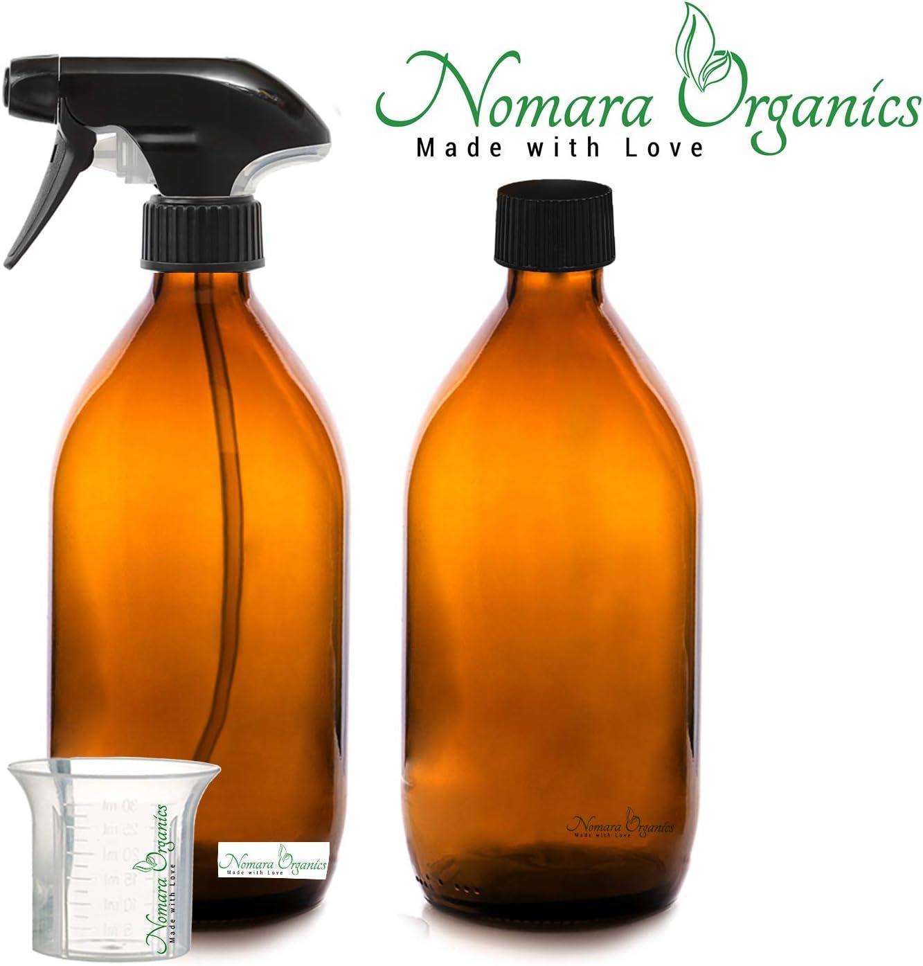 Nomara Organics® Botella Pulverizadore de vidrio ámbar sin BPA, 2 ...