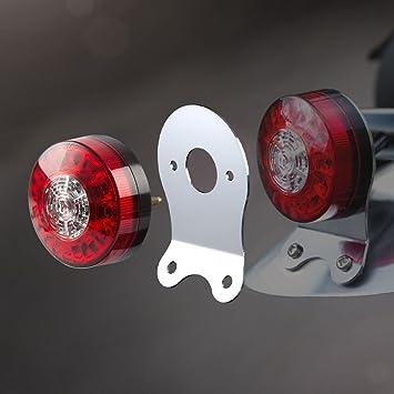 V-Twin Chrome Skull Cat Eye Tail Lamp Brake Light for Harley Motorcycle