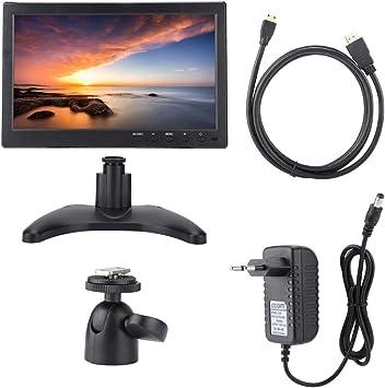 Lazmin Monitor IPS portátil, Pantalla de 10.1 Pulgadas 1366x768 16: 9 Monitor HDMI para Raspberry Pi, Xbox, 360, PS4, vigilancia por CCTV, Audio y Video para Autos, reposacabezas para Autos(UE): Amazon.es: Electrónica