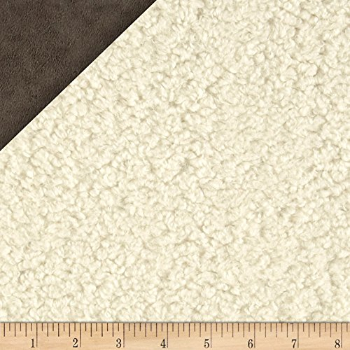 Sherpa Minky Suede (Fabric Faux Sheepskin by The Yard, Natural)