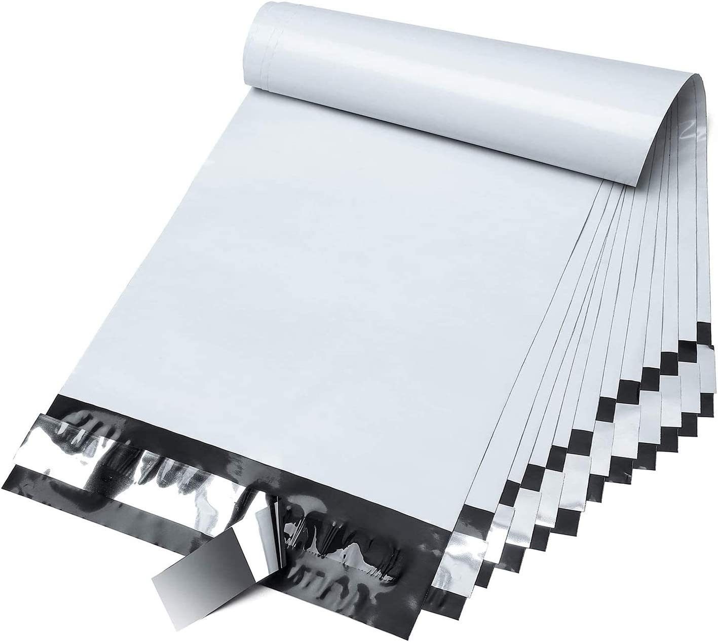 Fuxury 6x9 200pc white Poly Mailers Shipping Envelops Self Sealing Envelopes Boutique Custom Bags Enhanced Durability Multipurpose Envelopes Keep Items Safe Protected : Office Products