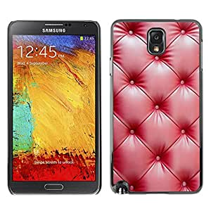 [Neutron-Star] Snap-on Series Teléfono Carcasa Funda Case Caso para Samsung Note 3 N9000 [Cuero rojo Arrugas Brillante]