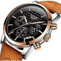 LIGE Mens Watches Fashion Casual Full Leather Sport Quartz Watch Men Luxury Brand Waterproof Business Gift Wristwatch