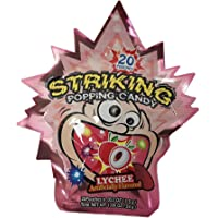 Yuhin Shocking Lychee Popping Candy 30g (Pack of 4)