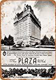 Wall-Color 7 x 10 METAL SIGN - 1936 The Plaza Hotel New York - Vintage Look Reproduction