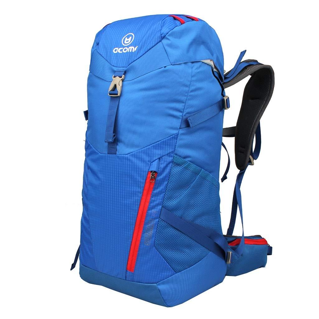 バックパックアウトドアスポーツ登山バッグスポーツバックパックユニセックス多機能バックパック容量30L (Color : Blue) B07T2L2YFR Blue