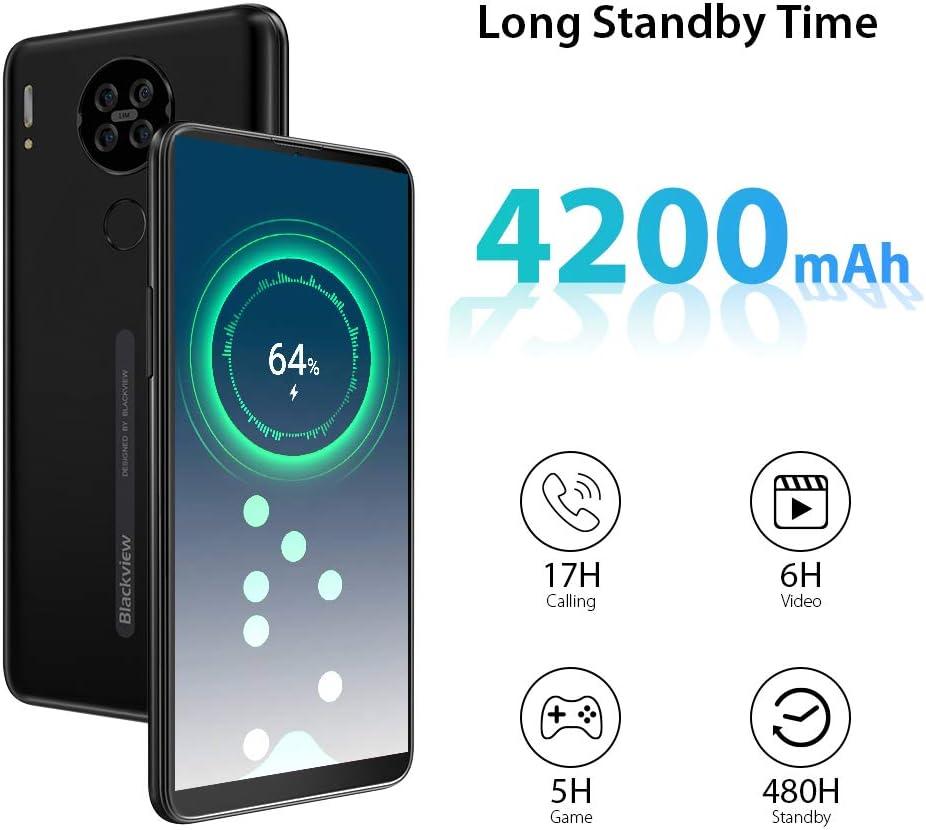 Face ID-Azul Bater/ía 4200mAh Tel/éfono M/óvil Libre Blackview A80 Smartphone Libre Android 10 GO con C/ámara Trasera Cu/ádruple 13MP Moviles Libres 4G 6.21 HD+ Water-Drop Screen 2GB+16GB SD 128GB